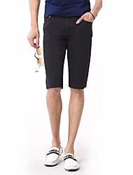 Men's Low Rise strenchy Shorts Pants,Punk & Gothic Loose Solid