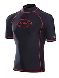 Men's Wetsuit Top Breathable Anatomic Design Sunscreen Chinlon Diving Suit Short Sleeve Tops-Diving Summer Fashion