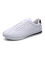 Men's Athletic Shoes Comfort PU Spring Fall Casual Walking Comfort Split Joint Flat Heel Black/White Red/White White/Blue White/Green