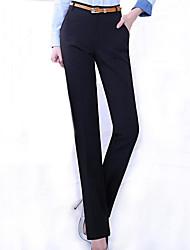De las mujeres Pantalones Traje-Tallas Grandes / Para Trabajo Microelástico-Poliéster / Licra
