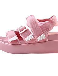 Women's Sandals Summer Fall Comfort Novelty PU Outdoor Office & Career Party & Evening Dress Casual Flat Heel Wedge HeelBuckle Hook &