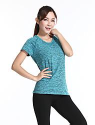 Mulheres Manga Curta Corrida Camiseta Confortável Primavera Verão Outono Moda EsportivaIoga Pesca Esportes Relaxantes Badminton