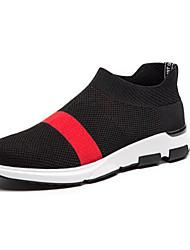 Chaussures athlétiques pour hommes Ressort confort tulle occasionnel noir / rouge noir