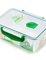 Rectangular Transparent Plastic Lunch Box with Divider