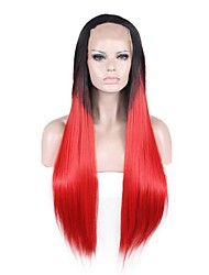 Natural Wigs Black Red Wigs for Women Costume Wigs Cosplay Lace Front Wigs