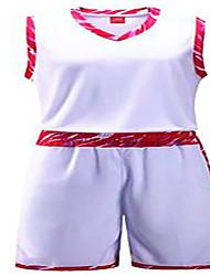 Per uomo Maniche corte Pallacanestro Set di vestiti/Completi Pantaloncini Traspirante Comodo Bianco Nero Giallo Rosso Blu L XL XXL XXXL
