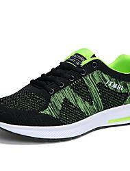 Homme-Extérieure Décontracté Sport-Bleu de minuit Vert BleuConfort-Chaussures d'Athlétisme-Sergé