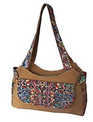 Women Bags All Seasons Canvas Tote with for Casual Brown