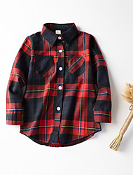 Going out Check Shirt,Cotton Spring