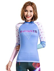 Women's Wetsuit Top Breathable Quick Dry Terylene Diving Suit Long Sleeve Tops-Diving Spring Summer Fashion