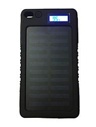 Lcd-8000 8000mah lcd 5v1a водонепроницаемый банк энергии с солнечной перезарядкой для мобильного телефона
