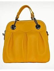 Women PU Casual Tote Yellow