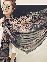 Bohemia Beach Tourism 2017 Cotton Rose Scarf Shawl Thin Long Rectangle Print Women's