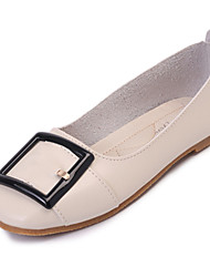 Women's Flats Spring Summer Comfort PU Office & Career Casual Flat Heel Light Brown Light Blue Coffee Black White Walking