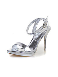 Women's Heels Spring Comfort PU Casual Champagne Screen Color Silver