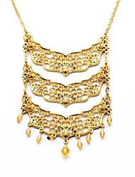 Women's Strands Necklaces Jewelry Chrome Unique Design Euramerican Fashion Gold Jewelry For Wedding Congratulations 1pc
