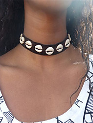 Women's Choker Necklaces Jewelry Single Strand Shell Euramerican Fashion Vintage Personalized Black Jewelry For Daily Casual 1 pcs