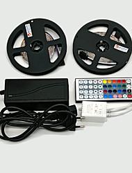 Z®zdm 2 × 5m 300x3528 smd rgb led strip light et 44key remote control et 6a eu / au / us / ukpower supply (ac110-240v)