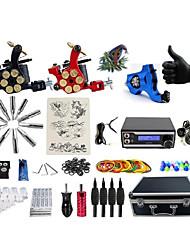 Kit completo per tatuaggi 1 x macchina rotante per linee e ombre 2 x tatuaggio macchina in lega per il rivestimento e l'ombreggiatura 3
