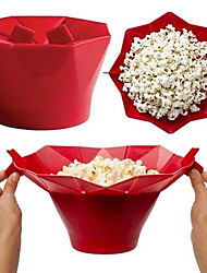 1Pcs   Microwaveable Popcorn Maker Pop Corn Bowl With Lid Microwave Safe New Kitchen Baking   Wares DIY Popcorn Bucket