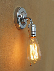 1pcs rétro loft edison applique murale lampe murale pour la maison vers le bas rustique industriel unique tête couloir salon mini décor