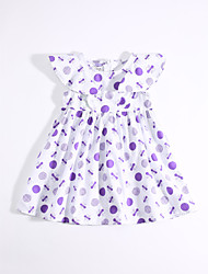 Girl's Casual/Daily Print Dress,Cotton Summer