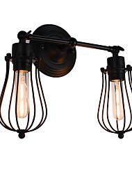 AC 100-240 8 E26/E27 Rustique Peintures Fonctionnalité for LED Ampoule incluse,Eclairage d'ambiance Appliques murales LED Applique murale