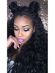 Natural Water Wave 100% Human Virgin Hair Lace Wig Lace Front Wig Natural Color Black Color Wig with Baby Hair