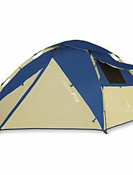 3-4 Personen Zelt Doppel Falt-Zelt Einzimmer Camping Zelt 2000-3000 mm Glasfaser OxfordFeuchtigkeitsundurchlässig Wasserdicht