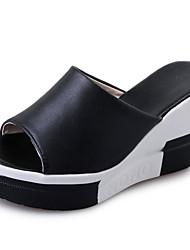 Mujer-Tacón Cuña-Confort-Sandalias-Exterior-PU-
