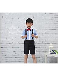 Хлопок Детский праздничный костюм - 4 Куски Включает в себя Брюки Рубашка Бабочка Подтяжки
