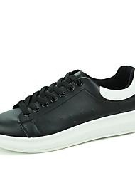 Unisex-Sneakers-Casual-pattini delle coppiePU (Poliuretano)-Bianco Nero White/Blue