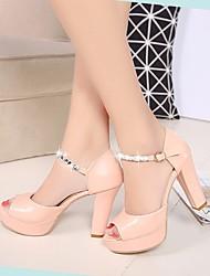 Damen-High Heels-Lässig-PUClub-Schuhe formale Schuhe-Weiß Leicht Rosa