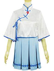 Uma-Peça/Vestidos Doce Lolita Cosplay Vestidos Lolita Fashion Manga Curta Short / Mini Vestido Para