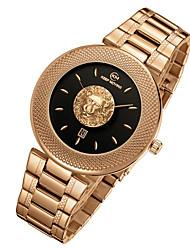 Мужской Наручные часы Уникальный творческий часы Swiss Кварцевый Календарь / Нержавеющая сталь Группа Cool Черный Белый Синий Бежевый