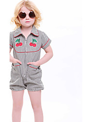 Baby Jumpsuit Going out Casual/Daily Holiday Striped Print One-PiecesCotton Summer Short Sleeve Girls Rompers