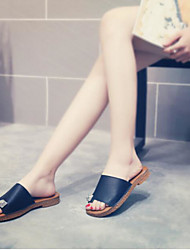 Women's Sandals Summer Slingback PU Casual Silver Black