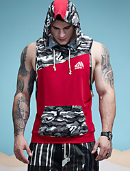 2017 Aimpact Men's Camouflage Patchwork Tank Top Sleeveless Hoodie Crossfit Bodybuilding Cotton Workout Fitness Muscle Cut Male Tank AM1010