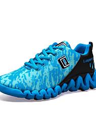 Herren-Sneakers Frühling Herbst Komfort Paar Schuhe Stoff Tüll Outdoor athletisch casual blau schwarz