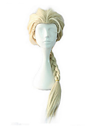 Sintético trançado peruca cosplay mulheres longas perucas 2 cores