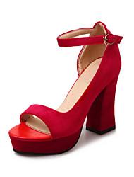Femme-Mariage Extérieure Habillé Décontracté--Gros Talon-Confort Nouveauté Flower Girl Chaussures club de Chaussures-Sandales-Laine