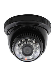 YanSe® CCTV Home Surveillance 3.6mm Lens with IR Cut Dome Security Camera 24PCS Infrared LEDs Black