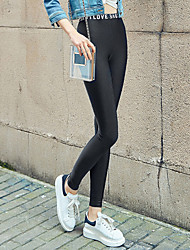 Women's Sporty Look Polyester Thin Solid Color LeggingSolid