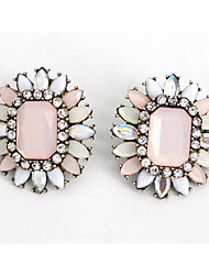 Drop Earrings Multi-stone Imitation Diamond Dangling Style Euramerican Fashion Zircon Gem Chrome Candy Pink Jewelry ForWedding Party