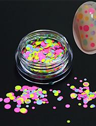1bottle fashion nail art brillance ronde paillette décoration ongle art diy beauté coloré rond tranche p29