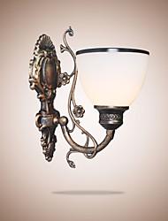 Simple lampe murale américaine lampe de chevet salon lampe décorative lampe murale en fer forgé en style européen