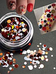 1bottle couleur douce mode ongle art mélangé taille colorée laser ronde tranche paillette paillette couper la décoration p13