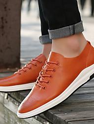 Men's Sneakers Comfort Fabric Casual Khaki Orange Black