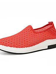 Women's Sneakers Spring Summer Comfort Tulle Outdoor Athletic Casual Flat Heel Blushing Pink Red Gray Black Tennis