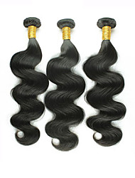 3pcs/Lot 300g 8-26inch Mix Size Color #1B Brazilian Body Wave Virgin Human Hair Weaves Style Hot Sale.